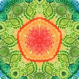 Vektoraquarellmandala Dekor für Ihr Design, Spitzeverzierung Rundes Muster, orientalische Art stock abbildung