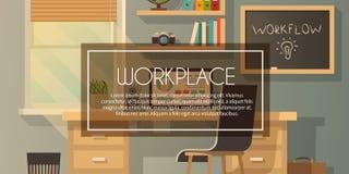 Vektorarbeitsplatzillustration Stockbild