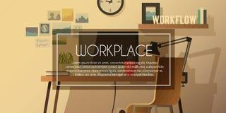 Vektorarbeitsplatzillustration Lizenzfreies Stockbild