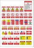 Vektorarbeitsschutzzeichen auf Lager, warnendes Schild stockbilder