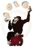 Vektorauf lagerabbildung Chinesischer Tierkreis Jonglierende Zahlen des Affen im Jahre 2016 Stockbilder