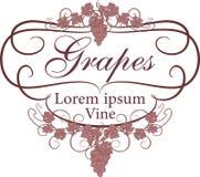 Vektoraufkleber für Wein in der Weinleseart Stockfotografie