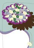 Vektorauslegung mit Blume Lizenzfreie Stockfotos