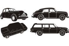 Vektorauto-Schattenbildset lizenzfreie abbildung