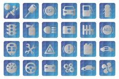 Vektorautomatisksymbol Biltecken inställda bilsymboler Arkivfoto