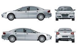 Vektorautomodell lokalisiert auf Weiß Stockbilder