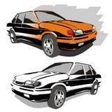 Vektorautos stock abbildung