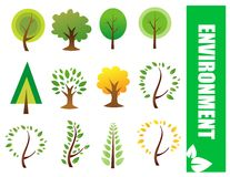 Vektorbäume Lizenzfreies Stockbild