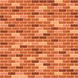 Vektorbacksteinmauerorange stock abbildung