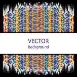 Vektorbakgrund är av färgrika fyrkanter Royaltyfri Fotografi