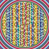 Vektorbakgrund är av färgrika fyrkanter Arkivfoto