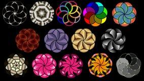 Vektorbakgrund av koncentriska cirklar vektor illustrationer