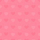 Vektorbakgrund av rosa fisknäthjärtor Royaltyfri Bild