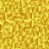 Vektorbakgrund av trianglar med en guld- lutningpåfyllning läst Arkivbild