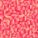 Vektorbakgrund av trianglar med en röd lutningpåfyllning Klart f Arkivbilder