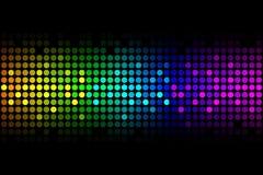 Vektorbakgrund - färgrika lampor royaltyfri illustrationer