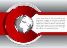Vektorbakgrund för broschyr eller reklamblad med ett jordklot Arkivfoton