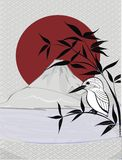 Vektorbakgrund i asiatisk stil Royaltyfri Bild