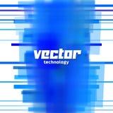 Vektorbakgrund med blåa suddiga linjer Arkivfoto