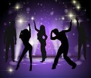 Vektorbakgrund med dansfolk Arkivfoto