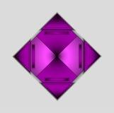 Vektorbakgrund med den kulöra purpurfärgade triangeln Arkivbild