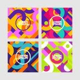 Vektorbakgrund med det pappers- kortet och abstrakta färgrika former royaltyfri illustrationer