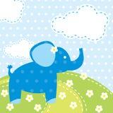 Vektorbakgrund med elefanten Arkivfoto