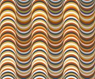 Vektorbakgrund med färgrika krusningar med effekt 3D royaltyfri illustrationer