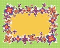 Vektorbakgrund med fjärilar Fotografering för Bildbyråer