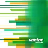 Vektorbakgrund med gröna suddiga linjer Arkivfoton