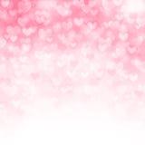 Vektorbakgrund med härliga rosa hjärtor Arkivfoton