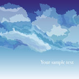 Vektorbakgrund med himmel och moln Arkivfoto