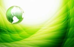 Vektorbakgrund med jordklotet Arkivfoton