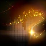 Vektorbakgrund med musikal noterar royaltyfri illustrationer