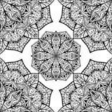 Vektorbakgrund med orientaliska mandalas Arkivfoto
