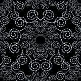 Vektorbakgrund med prickiga blommor Mandala Pattern Royaltyfri Bild