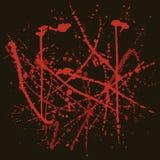 Vektorbakgrund med röda färgstänk Arkivbilder