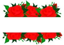 Vektorbakgrund med rosblommor och gröna sidor stock illustrationer