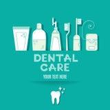 Vektorbakgrund med tandvårdsymboler Royaltyfri Bild