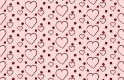 Vektorbakgrund till Valentine& x27; s-dag med hjärtor Arkivbilder