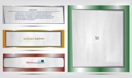 Vektorbakgrunder, baner och titelrad Royaltyfria Bilder