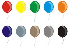 Vektorballone Lizenzfreie Stockfotografie