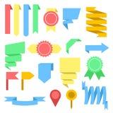 Vektorband och etiketter sänker uppsättningen, materielvektorillustration vektor illustrationer