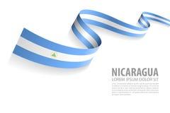 Vektorbaner med Nicaragua flaggafärger vektor illustrationer