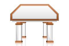 Vektorbankgebäude-Ikone Stockbilder