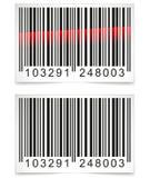 Vektorbarcodeetikett Arkivfoton