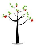 Vektorbaum in der Liebe Stockfotografie