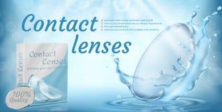 Vektorbefordranbaner med kontaktlinser stock illustrationer