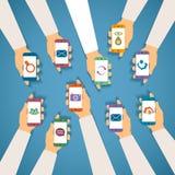 Vektorbegrepp av modernt mobilt trådlöst technolohy Royaltyfri Fotografi