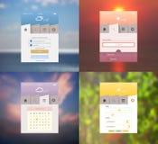 VektorBenutzerschnittstellenelemente und -ikonen Stockfotos